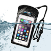 6inch high quality black waterproof cell phone bag