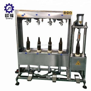 manual double four heads juice filler / drinking water bottle filler / milk bottle filling machine