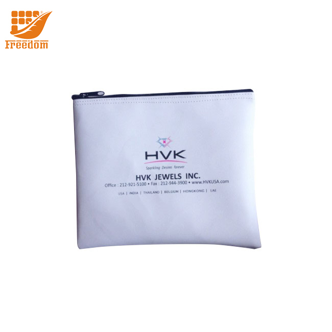 Custom Logo Vinyl PVC Zippered Bank Deposit Bags in Factory Price