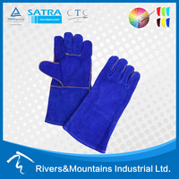 RAMSAFETY cow split safety welding leather glove for working