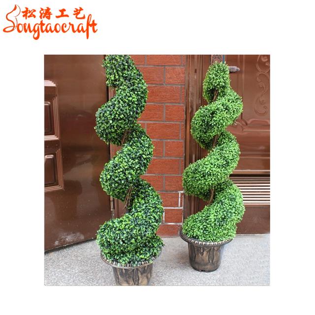 Factory Metal Wholesale Artificial Topiaries Cheap Garden Mini