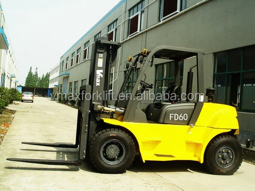2015 hot sale 6Ton Diesel Forklift Truck masted manufactures in china shanghai
