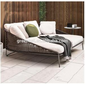 High quality rope weave outdoor day bed double sub lounger