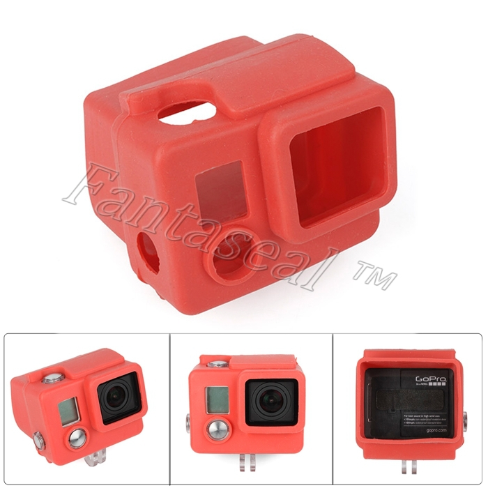 GoPro Accessories Silicon Gel Protective Case Applicable  Protective  Silicone Case Cover Red Applicable for Gopro Hero 4/ 3+