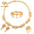 1710025 Caheer fashionable jewelry gold plated flower bridal gemstone jewelry sets