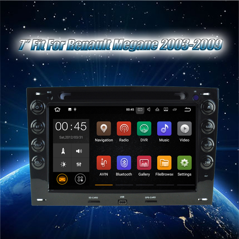 Krando Android 7.1 7'' car dvd audio radio with gps for Renault Megane 2003-2009 navigation multimedia system wifi KD-RM703