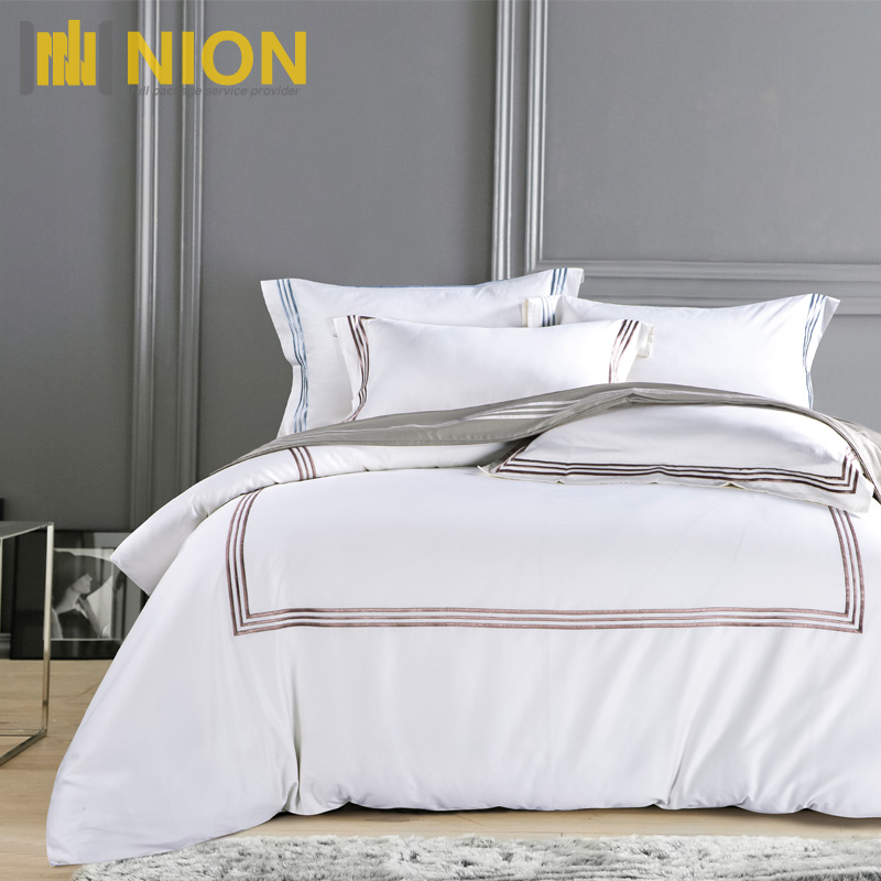 600 Thread Count Supreme Quality Classic Bed Sheet with Embroidery Design