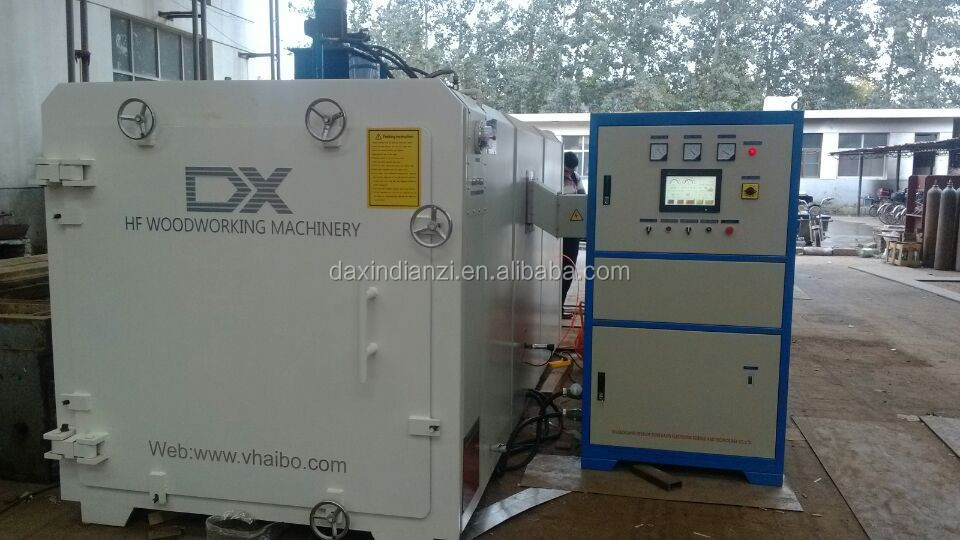High frequency vacuum Wood working drying Machine
