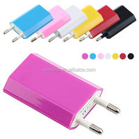 USB AC Charger Wall Adapter Travel Power EU Plug 5V 1A Mobile Phone Accessories