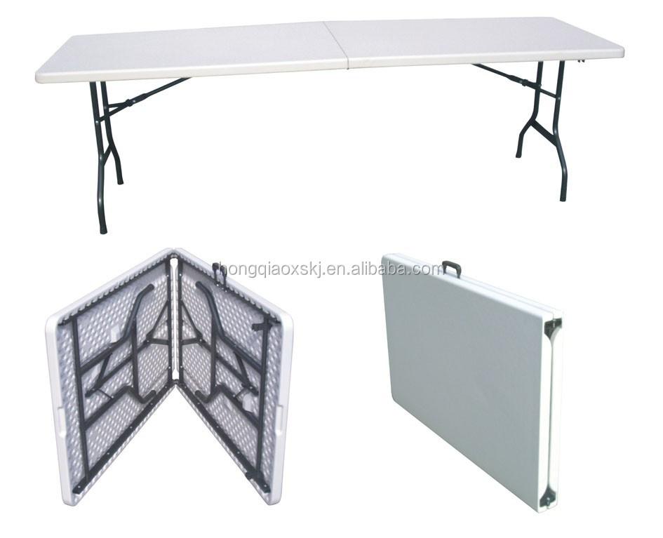 6ft en plastique pliable table utilis table pliante avec for Table pliable avec chaise