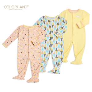 LOW MOQ OEM 100% organic cotton newborn clothes baby rompers set jumpsuit