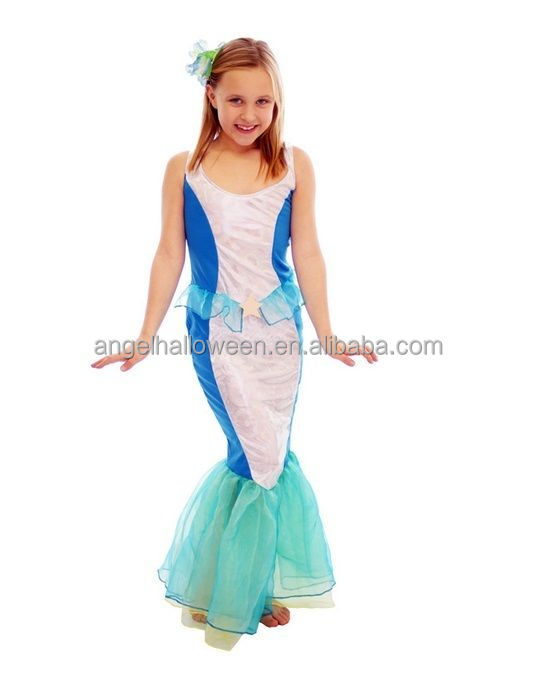 Girl's Mermaid Ariel Fairy tale Princess Fancy Dress Costume Outfit Kids Child AGQ4070