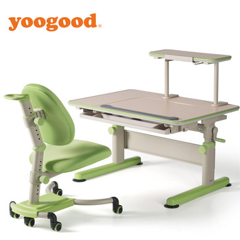 Yoogood Height Adjustable Study Desk And Chair Set For Students