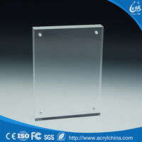 Fashionable double sided glass picture frame wholesale