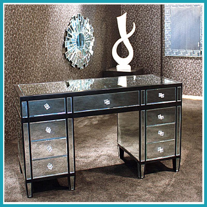 Nueva llegada refleja pecho muebles de espejo de cristal-Gabinetes ...