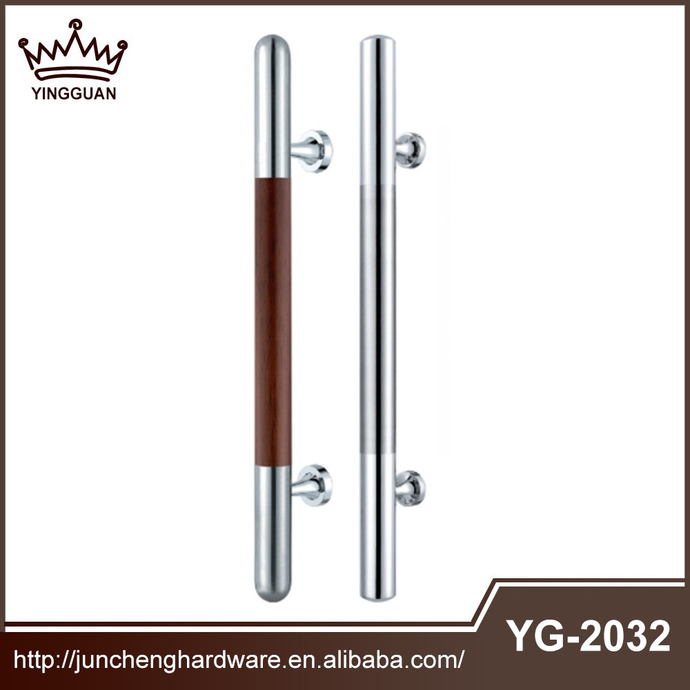 304 stainless steel door handles with real wood made in china
