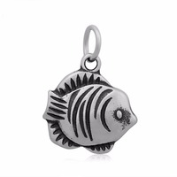 Charm With Split Ring 17*23mm Stainless Steel Fish Charm For Women Jewelry DIY Adjustable Bracelet Charm Never Fade