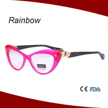 Handmade Optical Frame Lovely Cat Eye Acetate Optical Frames For ...