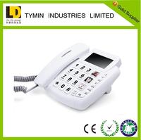 2016 TOP sales big button NO Voice Mail telephone for senior black list phone GSM deskphone for English market