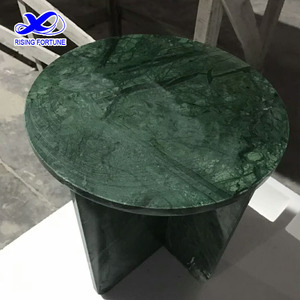Round onyx marble table top