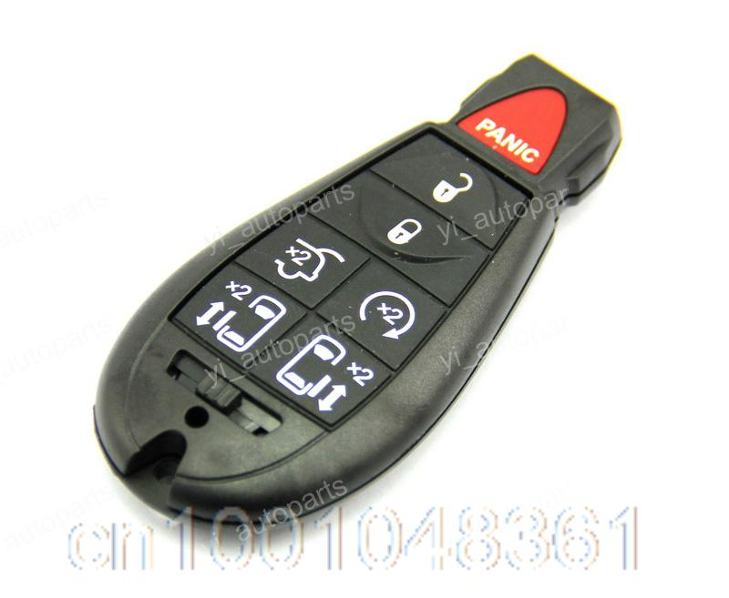 remote key blank shell case keyless fob pad cover replacement fobik for chrysler town country. Black Bedroom Furniture Sets. Home Design Ideas