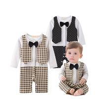 Infant Toddler Clothing Plain White Baby Onesie Kids Autumn Romper Long Sleeve Baby Boys Jumpsuit