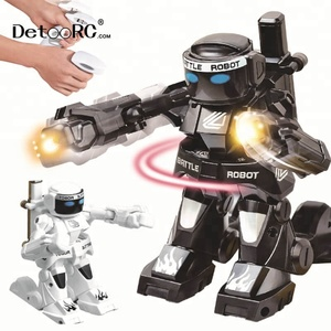 Detoo kids remote control battle robots interactive toys children game toys rc fighting robot