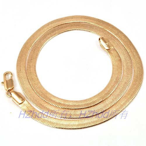 "24"" inch 61.5cm 6mm 21g,REAL 18K ROSE GOLD PLATED NECKLACE SOLID FILLED COPPER GP HERRINGBONE CHAIN,Casual/Party Gift,Wholesale"