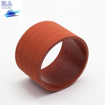 Auto spare parts 5429970052 silicone rubber hose with 4 ply 5mm thickness red from Wolun