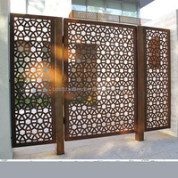 Cheap Outdoor Exterior Decorative Laser Cut Metal Screens Wall Panels