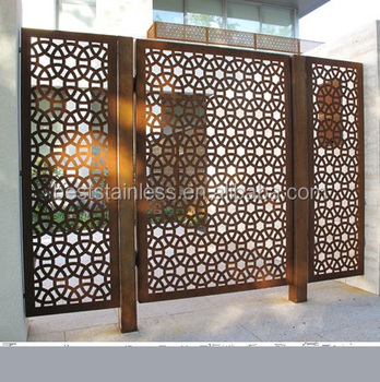 Cheap outdoor exterior decorative laser cut metal screens for Cheap decorative screens