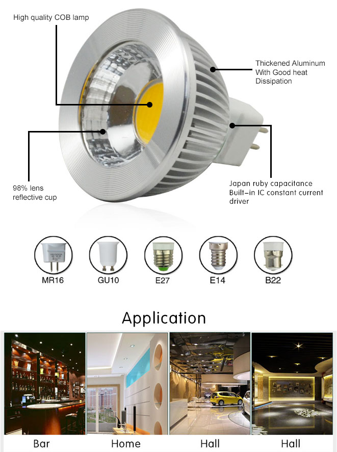 UL CE and Rohs approved dimmable ceiling led spot light