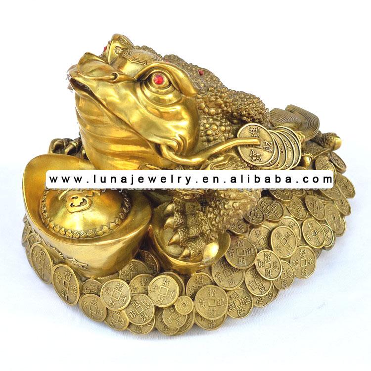 Feng Shui Argent grenouille en bronze feng shui statue, argent grenouille, l'argent