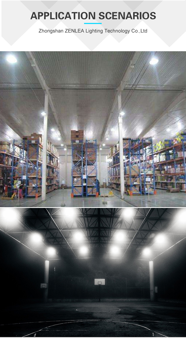 Factory Warehouse Industrial luminaire IP65 waterproof smd aluminum 100w 150w 240w ufo led high bay light