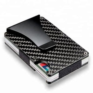 Ultra Thin Metal Wallet/RFID Blocking Credit Card Holder/Slim Carbon fibre Card Case for Travel and Work