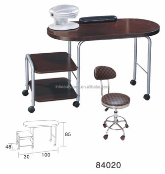 Portable Nail Table Manicure Foldable Desk With Stools