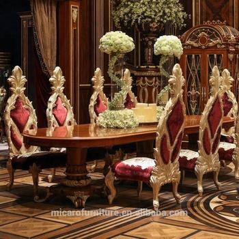 Merveilleux Dernière Classique Maître Italien Design Couleur Cerise Meubles De Salle à  Manger En Bois Massif Avec