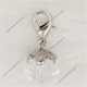 Diamond April silver alloy Birthstone charms