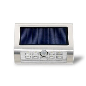 Zhongshan Newly release 9 LED smart Solar LED Motion Sensor security wall Light with LifePO battery