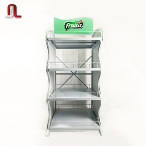 New style three-layer bread display rack and commodity or others goods metal display rack for supermarket store mall