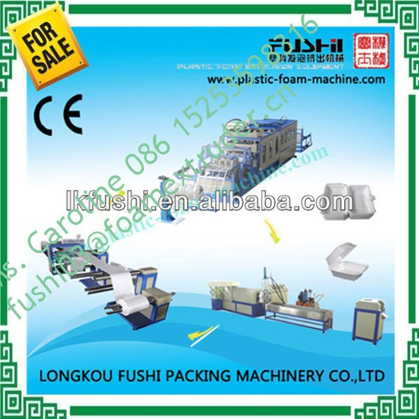 Hot sales CE approved PS disposable foam lunch container/box making machine , EPS foam food tray making machine