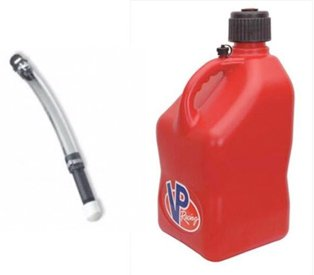 VP 3 Gallon Square Blue Racing Utility Jug with Deluxe Filler Hose