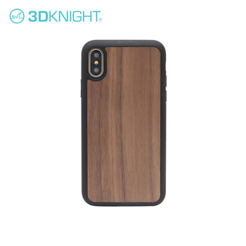 High Quality Shockproof Wooden And TPU Phone Protector Cover For iPhone X