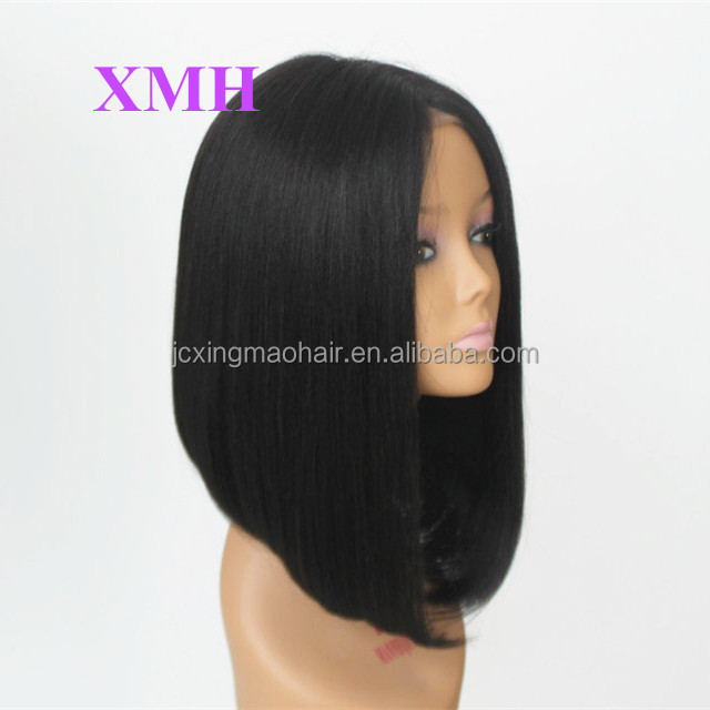 "4x4"" Silk Base Middle Part 130% Density 100% Virgin Brazilian Tangle Free Straight Full Lace Wigs For Black Women"