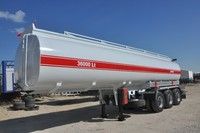 ROUND SHAPE FULL CHASSIS FUEL TANKER SEMI TRAILER