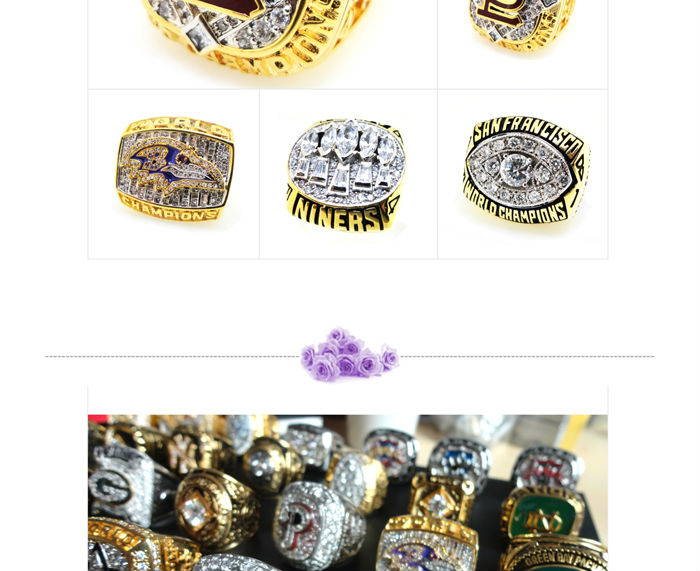 Customized design gold plated national champions rings