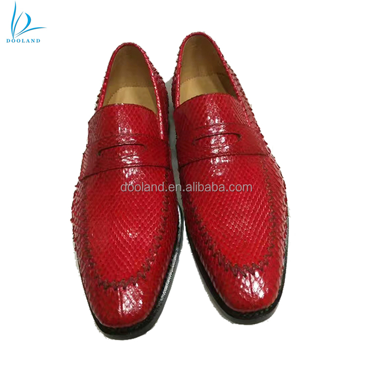 leather skin men genuine selling Luxury hot shoes fashion python WUZqpYB0Hw