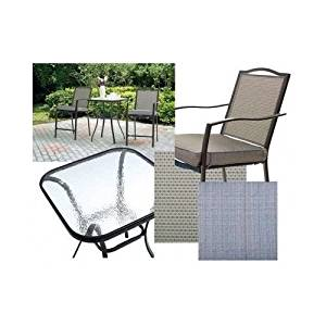 3 Piece Patio Set Outdoor Furniture Table Chairs Garden Backyard Poolside Deck Yard