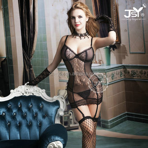 Adult Shop Factory Wholesale Transparent Sheer Mature Women Underwear Lingerie Babydoll
