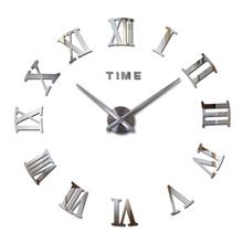 2016 hot fashion quartz watch home decor limited sale 3d big mirror diy real wall clock modern design room gift free shipping